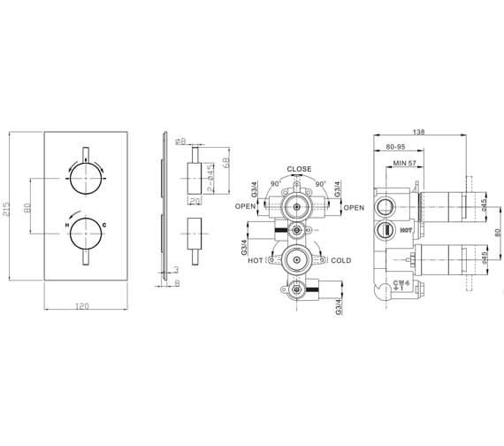 Technical drawing QS-V104666 / KL1000LBPC