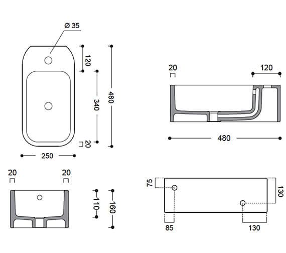 Technical drawing QS-V104685 / WM4825SCW_LH