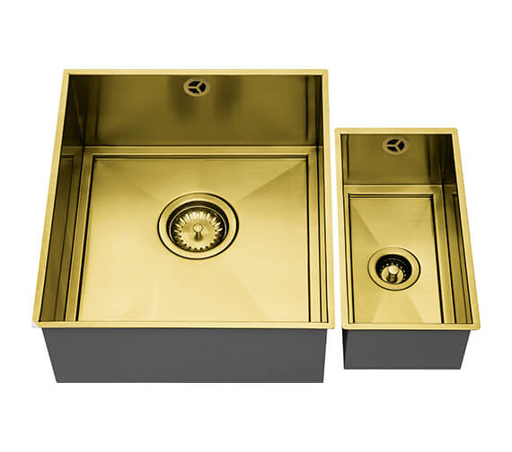Additional image of 1810 Company Axix Uno SET B 355U And 150U Short Half Bowl Undermount Kitchen Sink