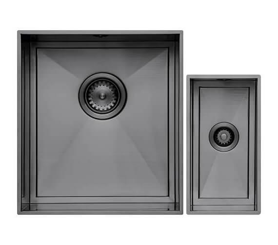 Alternate image of 1810 Company Axix Uno SET B 355U And 150U Short Half Bowl Undermount Kitchen Sink
