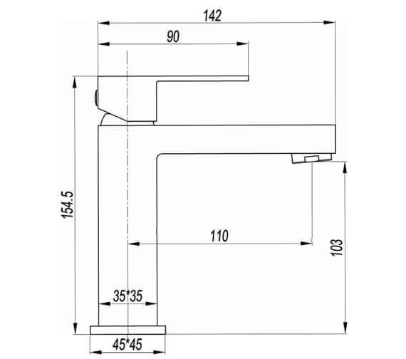 Technical drawing QS-V104472 / VR110DNC