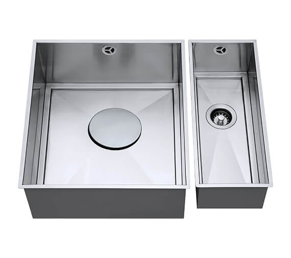 1810 Company Axix Uno SET A 355U And 150U 1.5 Bowl Undermount Kitchen Sink