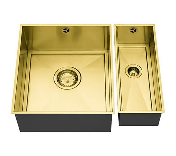 Additional image of 1810 Company Axix Uno SET A 355U And 150U 1.5 Bowl Undermount Kitchen Sink