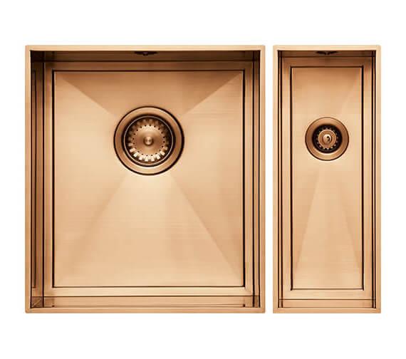 Alternate image of 1810 Company Axix Uno SET A 355U And 150U 1.5 Bowl Undermount Kitchen Sink