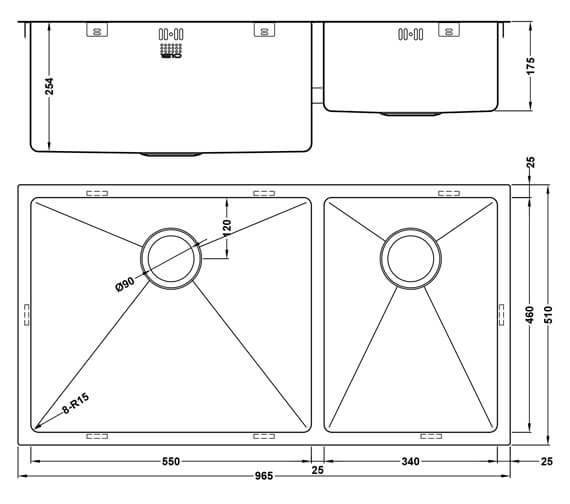 Technical drawing QS-V101462 / ZD/5534/U15/D/S/XXL/503