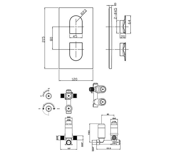 Technical drawing QS-V104686 / MBPS1000LBPC