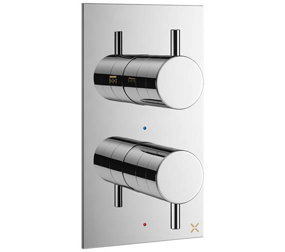 Crosswater MPRO 1 Outlet Concealed Thermostatic Shower Valve With Body And Chrome Collar