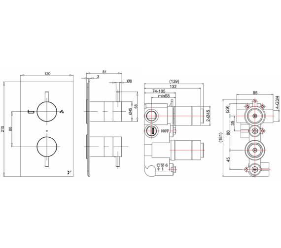 Technical drawing QS-V72609 / PRO1500LBPC|WLBP1500RC+