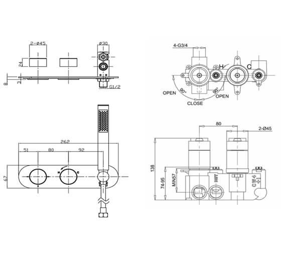 Technical drawing QS-V104674 / CE2701LBPC|WLBP2001RC+