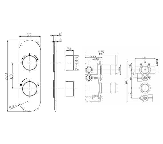 Technical drawing QS-V104673 / CE1000LBPC