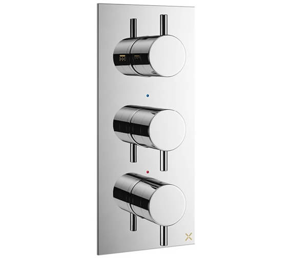 Crosswater MPRO 2 Outlet Thermostatic Shower Valve With 3 Control