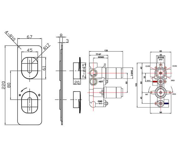 Technical drawing QS-V15613 / ZR02_1000LBPC