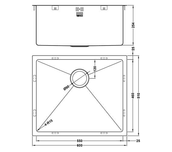 Technical drawing QS-V101465 / ZU/55/U15/D/S/XXL/501