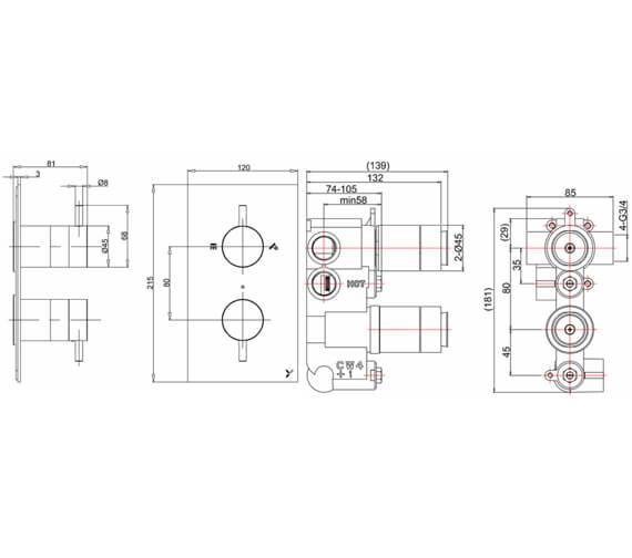 Technical drawing QS-V72612 / PRO1510LBPC