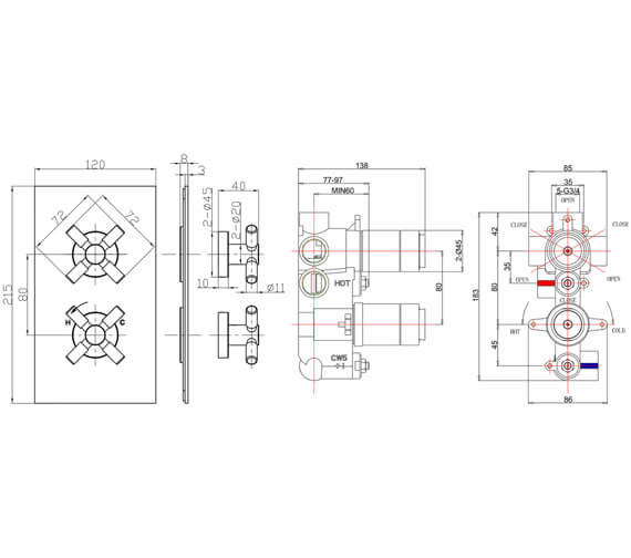 Technical drawing QS-V38236 / TO1000LBPC