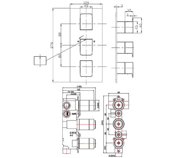 Technical drawing QS-V100394 / ZR03_1000LBPC