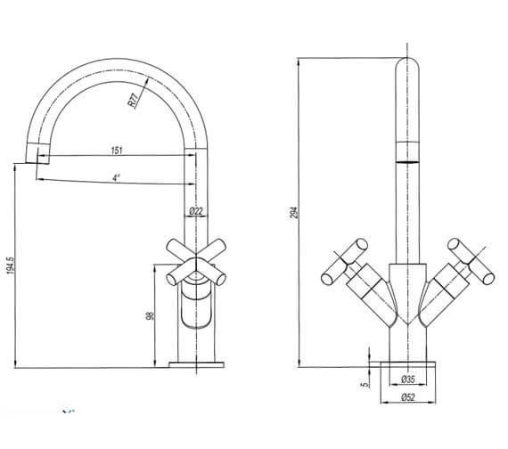 Technical drawing QS-V104675 / PRC110DNC