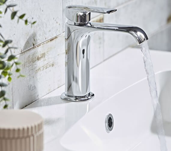 Roper Rhodes Scape Deck Mounted Basin Mixer Tap With Click Waste