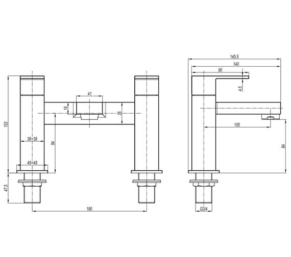 Technical drawing QS-V104475 / VR322DC