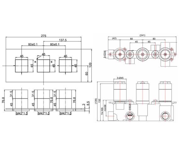 Technical drawing QS-V9999017 / WS1000LBPC|WLBP1000RC+