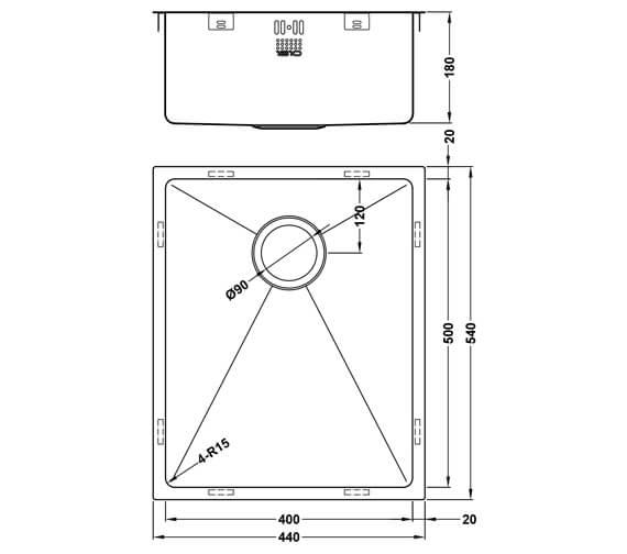 Technical drawing QS-V101467 / ZU/50/U15/S/OSW/66