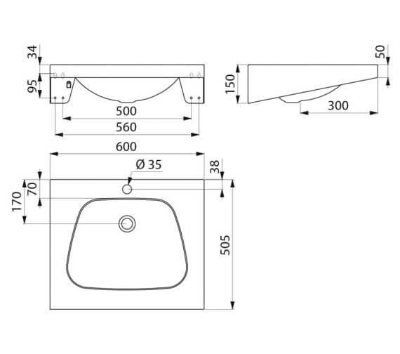 Technical drawing QS-V106703 / 120270