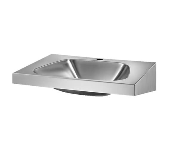 Additional image of Delabie Trapez 600mm Wall Mounted Washbasin