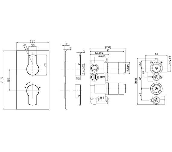 Technical drawing QS-V21897 / WP1000LBPC