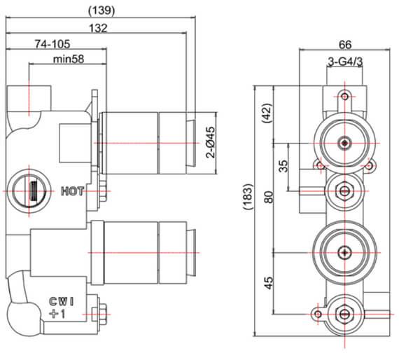 Technical drawing QS-V89344 / WF1000LBPC_LV_VS+ WLBP1000RC+