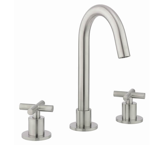 Additional image of Crosswater MPRO Crosshead Deck Mounted 3 Hole Basin Mixer Tap