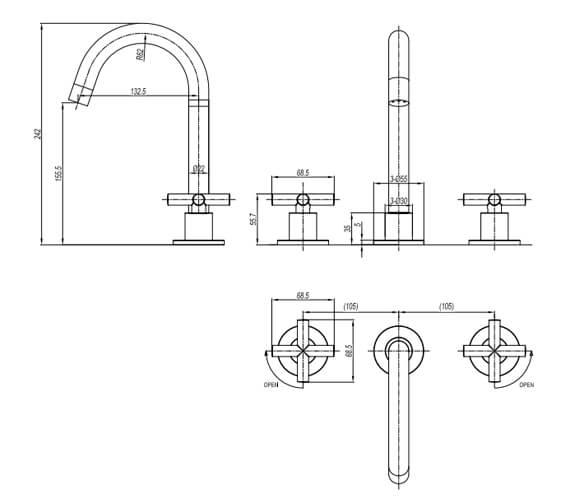Technical drawing QS-V104677 / PRC135DNC
