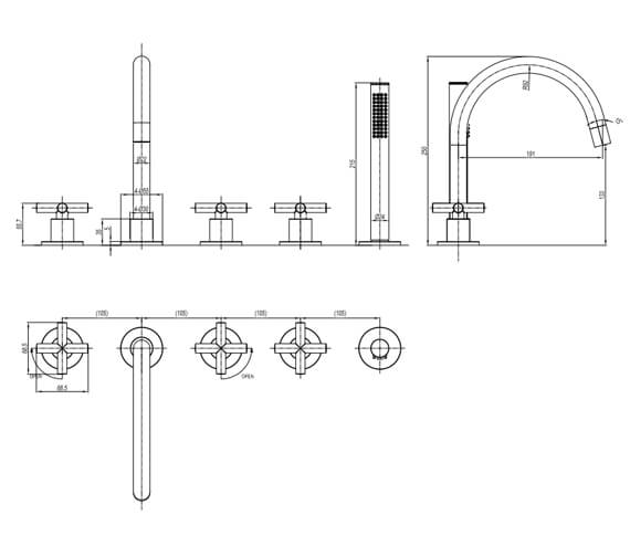 Technical drawing QS-V104678 / PRC450DC