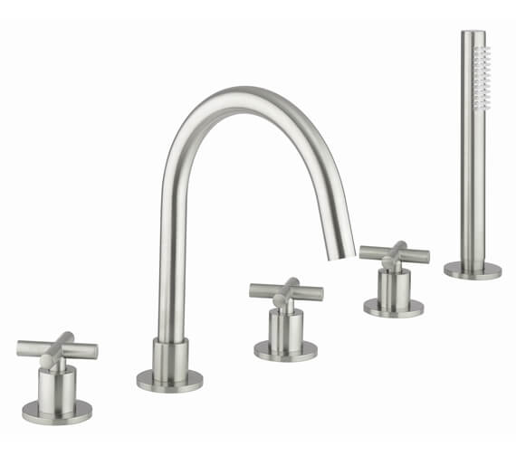 Additional image of Crosswater MPRO Crosshead Deck Mounted 5 Hole Bath Mixer Tap
