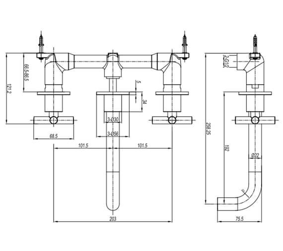 Technical drawing QS-V104676 / PRC130WNC