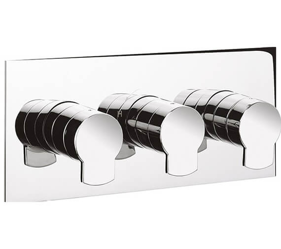 Alternate image of Crosswater Wisp Thermostatic 3 Control Shower Valve With Body