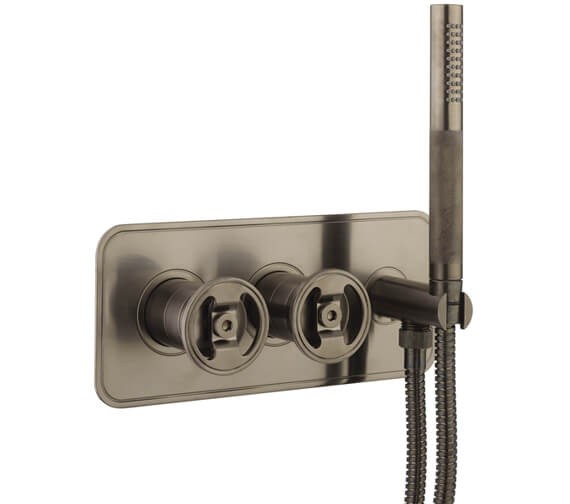 Additional image of Crosswater Union Thermostatic Shower Valve With 2 Way Diverter And Handset
