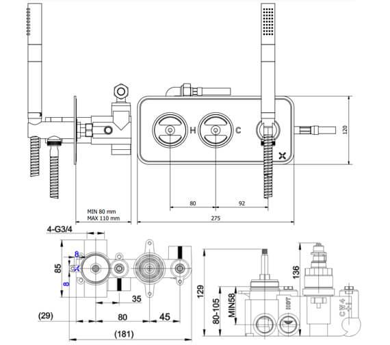 Technical drawing QS-V102280 / UB1701LBPC