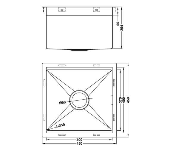 Technical drawing QS-V101474 / ZUO/40/U10/S/180