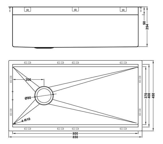 Additional image of 1810 Company Zenuno10 400 Options Single Bowl Sink