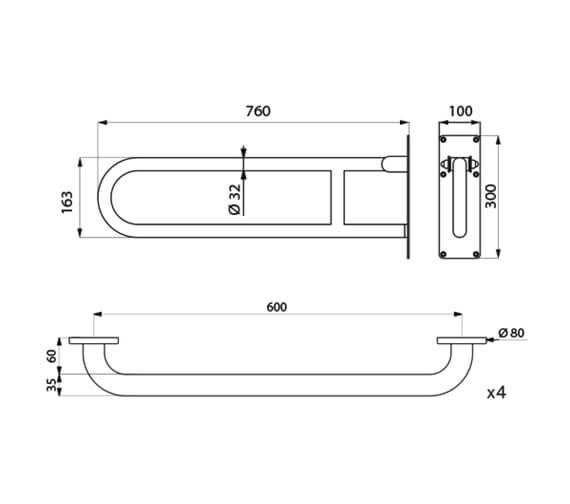 Technical drawing QS-V106018 / 510804MB