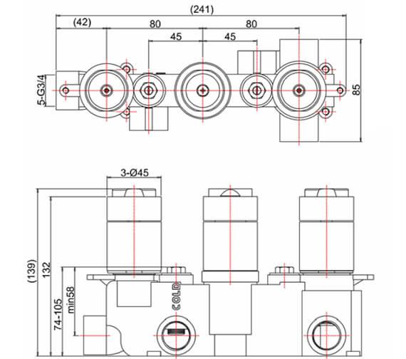Technical drawing QS-V21903 / WP2000LBPC