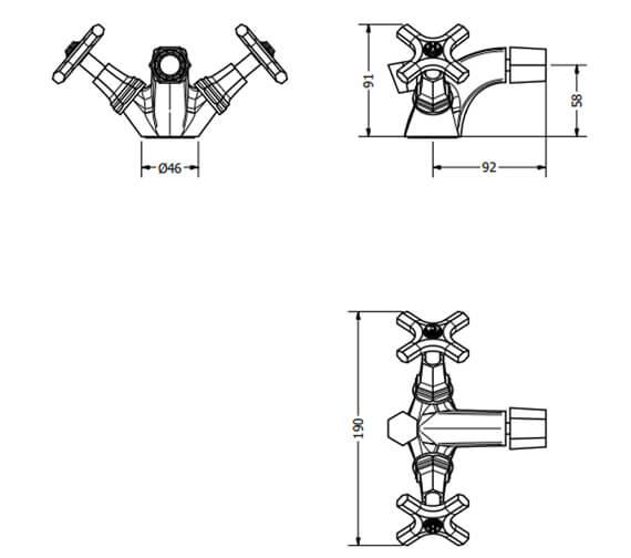 Technical drawing QS-V104691 / WF210DPC+