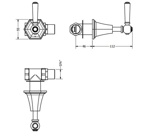 Technical drawing QS-V104692 / WF350WC+