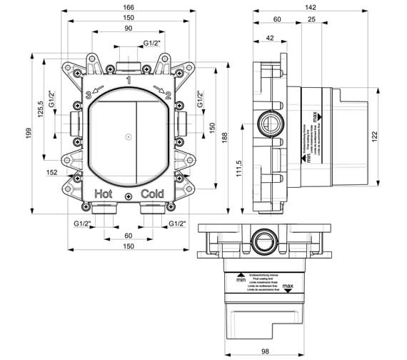 Technical drawing QS-V104687 / WSCB1000LBPC