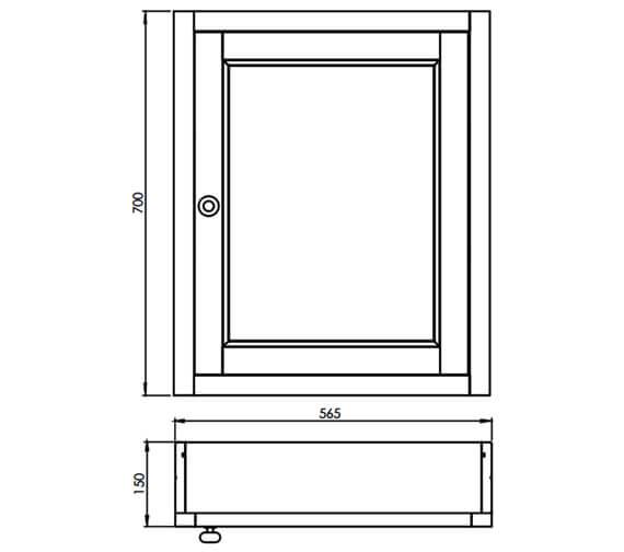 Technical drawing QS-V14093 / HAMCAB.W