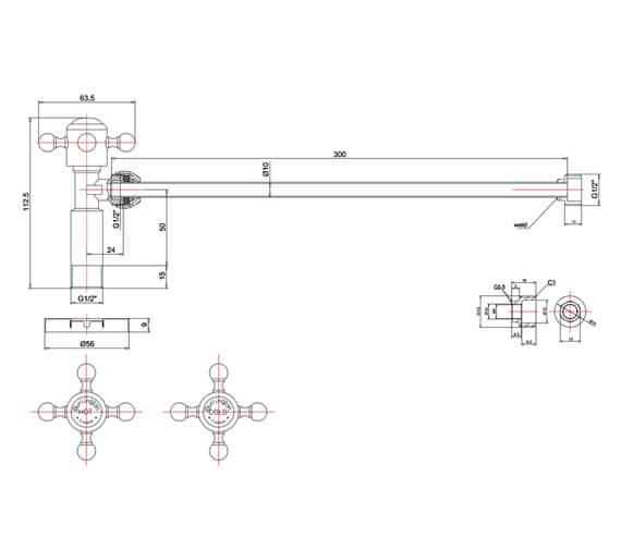Technical drawing QS-V105977 / W28