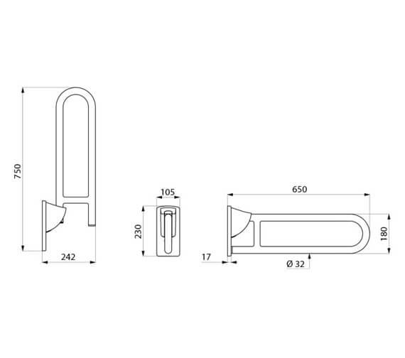 Technical drawing QS-V106040 / 5160N