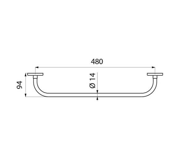 Technical drawing QS-V106039 / 6784