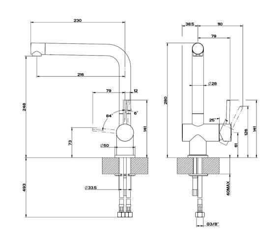 Technical drawing QS-V89518 / 50201031