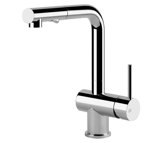 Gessi Oxygene 280mm High Pull Out Dual Spray Kitchen Mixer Tap